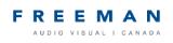 Freeman Audio Visual Logo